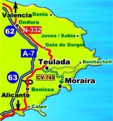 Moraira Spain Map.Rent Luxury Apartment With Seaviews In Moraira Alicante Spain